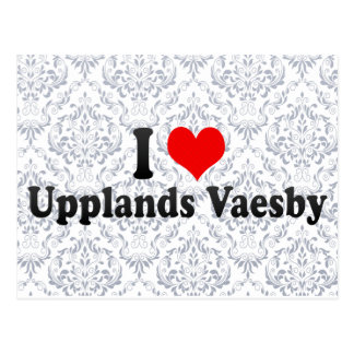 I Love Upplands Vaesby, Sweden Postcard