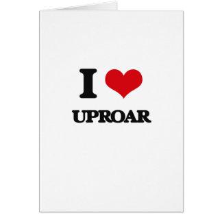 I love Uproar Greeting Card