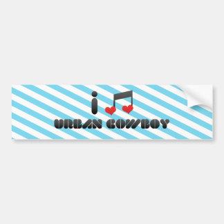 I Love Urban Cowboy Bumper Stickers