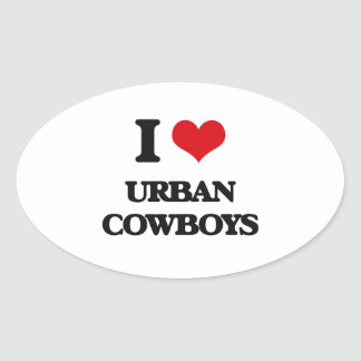 I Love URBAN COWBOYS Stickers