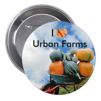 I Love Urban Farms Button