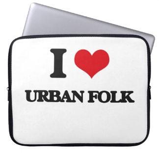 I Love URBAN FOLK Laptop Sleeve