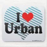 I Love Urban Mouse Pad
