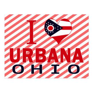 I love Urbana, Ohio Postcard