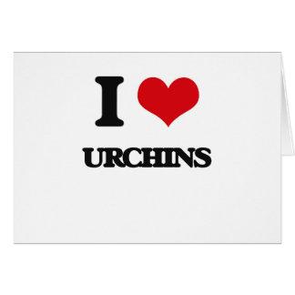 I love Urchins Greeting Card