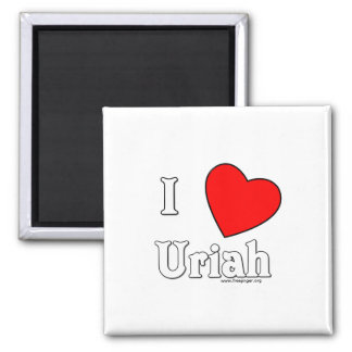 I Love Uriah 2 Inch Square Magnet