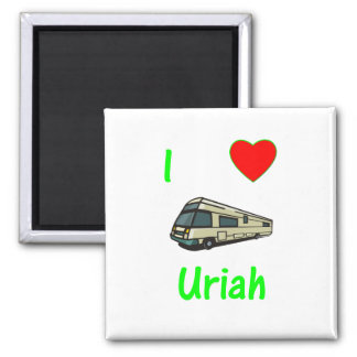 I Love Uriah (pic) 2 Inch Square Magnet