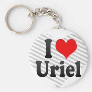 I love Uriel Key Chains