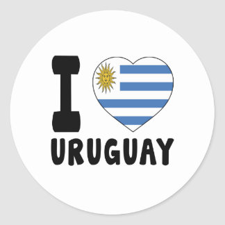 I Love Uruguay Classic Round Sticker