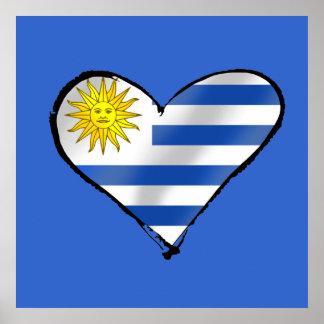 I love Uruguay Uruguayan heart gifts Poster
