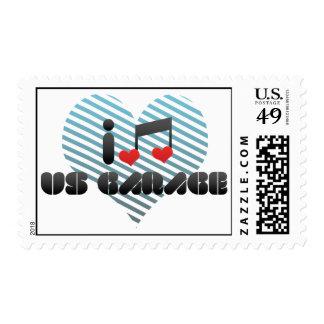 I Love Us Garage Postage Stamp
