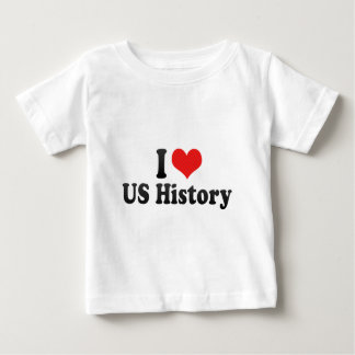 I Love US History Baby T-Shirt