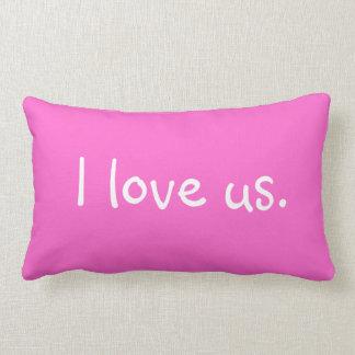 I LOVE US Lumbar Pillow