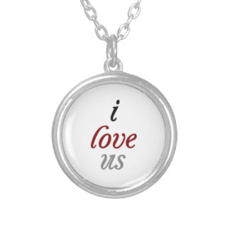 I Love Us Silver Plated Necklace