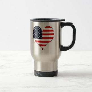 I Love Usa 15 Oz Stainless Steel Travel Mug