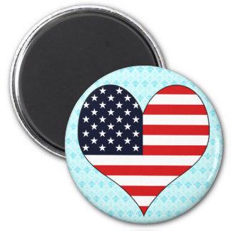 I Love Usa 2 Inch Round Magnet
