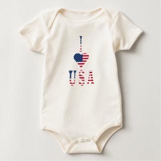 I LOVE USA BABY BODYSUIT