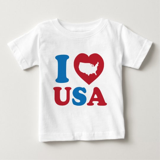 I Love USA Baby T-Shirt