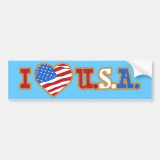 I Love USA Bumper Sticker Car Bumper Sticker