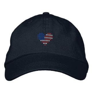 I Love USA Cap - American Heart Flag Hat Embroidered Baseball Cap