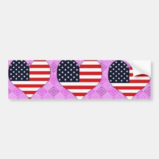 I Love Usa Car Bumper Sticker