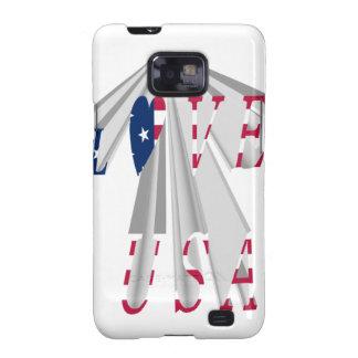 I LOVE USA GALAXY S2 CASE
