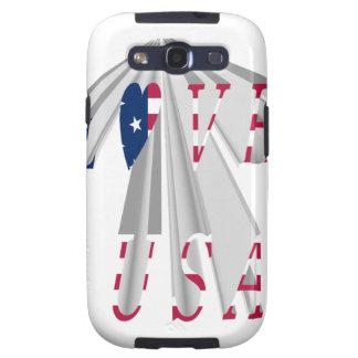 I LOVE USA SAMSUNG GALAXY SIII CASES