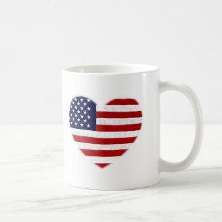 I love,USA Classic White Coffee Mug