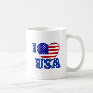 I Love USA Coffee Mugs