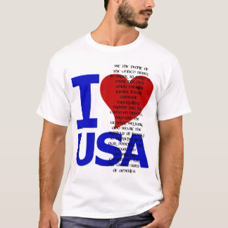 I LOVE USA CONSTITUTION PREAMBLE T-Shirt