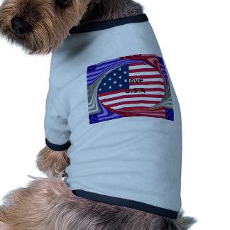 I LOVE USA DOG T SHIRT