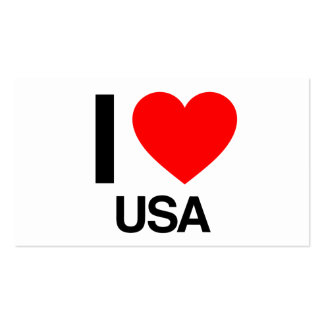 i love usa Double-Sided standard business cards (Pack of 100)