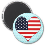 I Love Usa Fridge Magnet