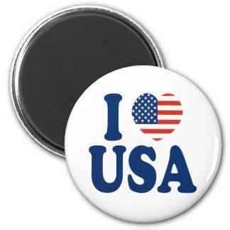 I Love USA Heart Design Magnet