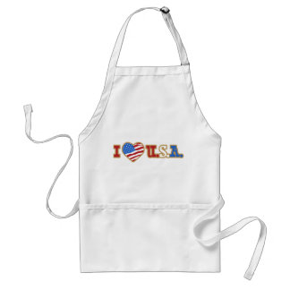 I Love USA  Independence Day American Adult Apron