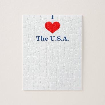 I Love USA Jigsaw Puzzle
