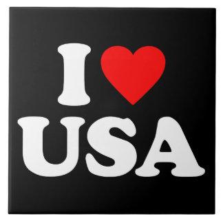 I LOVE USA LARGE SQUARE TILE