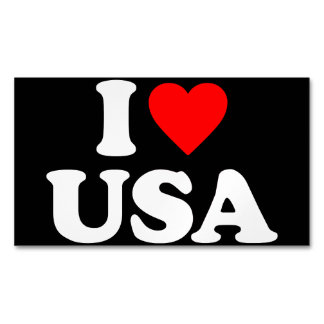 I LOVE USA MAGNETIC BUSINESS CARDS (Pack OF 25)