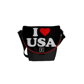 I LOVE USA MESSENGER BAG