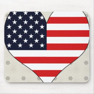 I Love Usa Mouse Pad