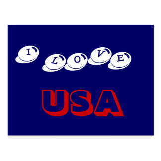 I LOVE USA POSTCARD