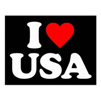 I LOVE USA POST CARD