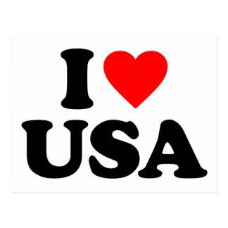 I LOVE USA POSTCARDS