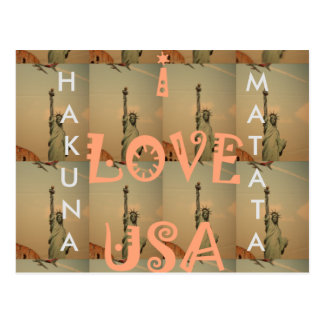 I love USA Postcard Horizontal Template