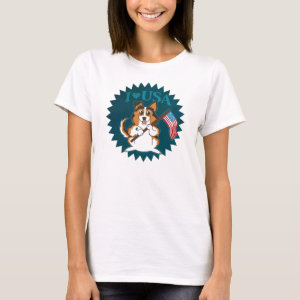 I Love USA Puppy T-Shirt
