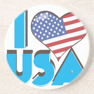 I Love USA Retro 80s Coaster