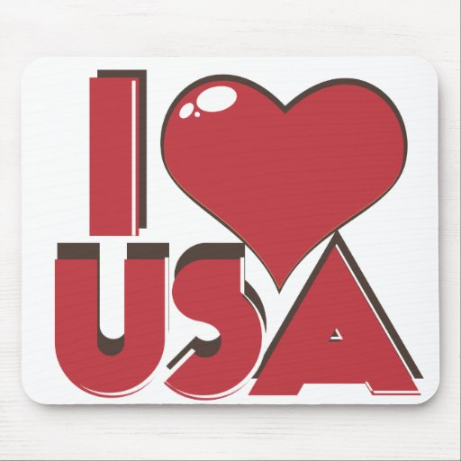 I Love USA Retro 80s Mouse Pads