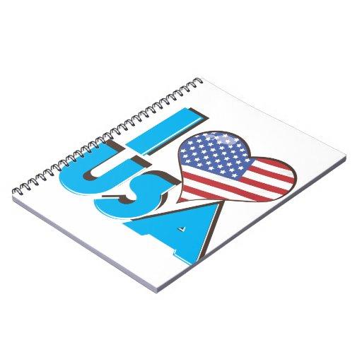 I Love USA Retro 80s Notebooks