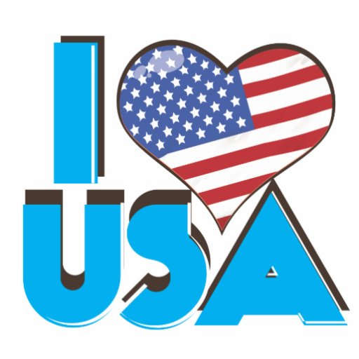 I Love USA Retro 80s Photo Cutouts