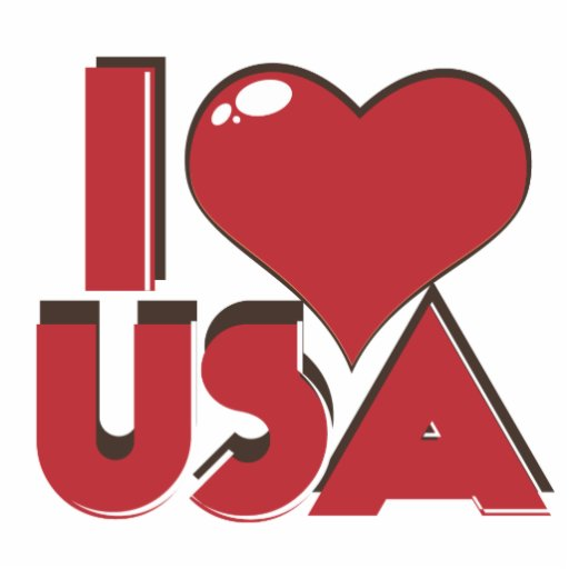 I Love USA Retro 80s Cut Outs